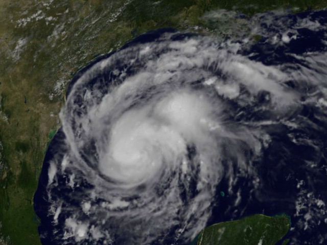 Hurricane Harvey approaching Texas