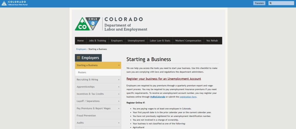 Starting a Business Colorado Department of Labor and Employment