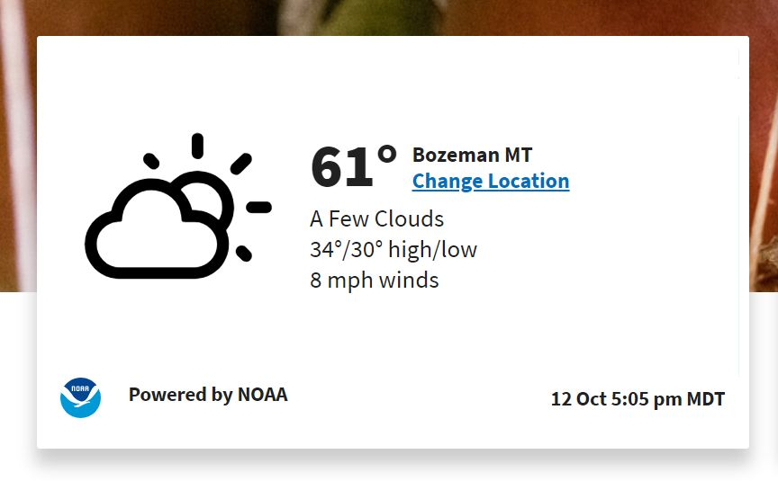 Farmers.gov weather NOAA