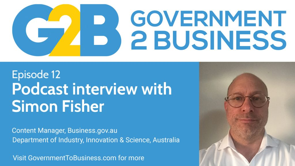Simon Fisher from Australia's government to business portal, Business.gov.au