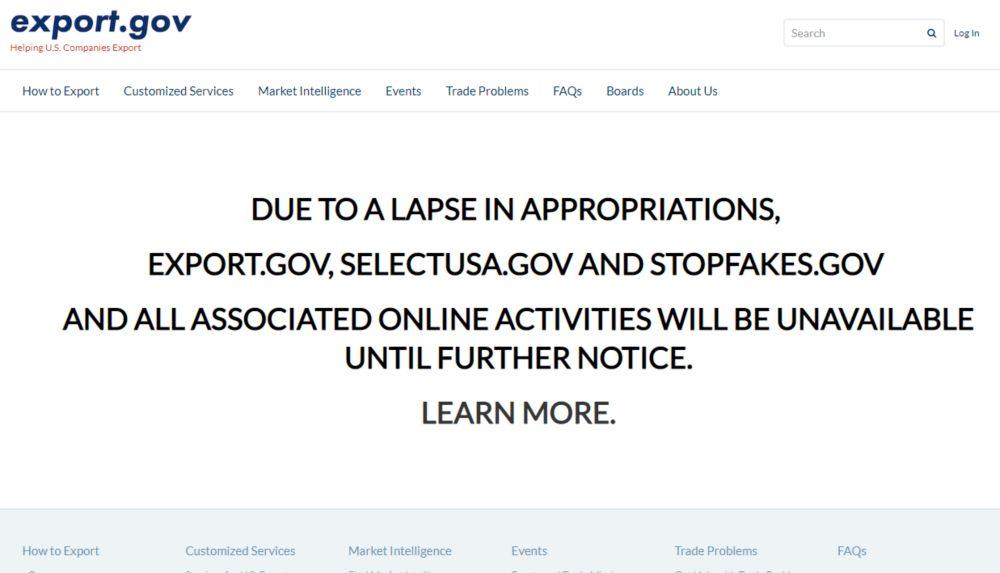 Podcast episode 13: US Government Shutdown - a website
